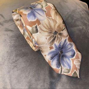 Oscar De La Renta Vintage Floral Tie